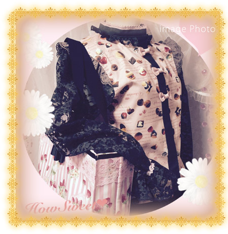 HowSweet*Chocolate Sweets Tops*[pink]-着画2イメージ