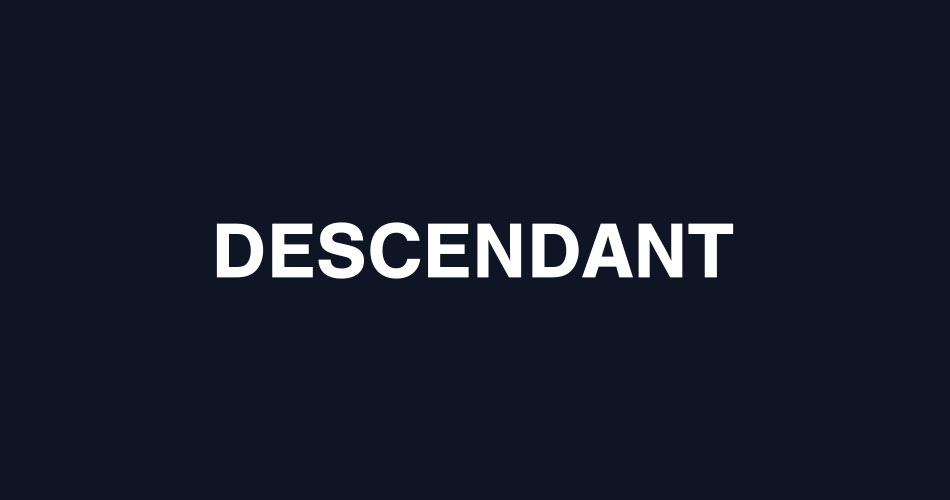 DESCENDANT 17AUTUMN/WINTER