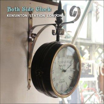 _外国の駅にあるようなレトロな両面時計-ボスサイドクロック KENSINTON