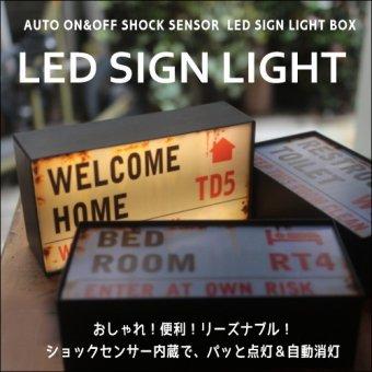 _ショックセンサーで自動点灯&自動消灯!LEDサインライト