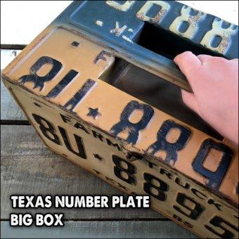 _アメリカンジャンクな収納BOX。テキサスナンバープレートBIGボックス