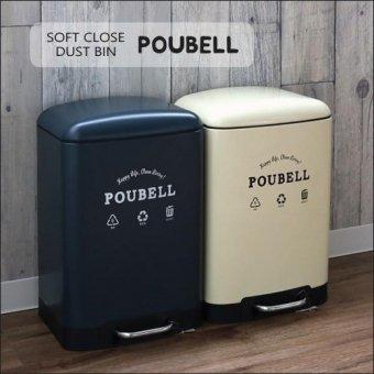 _ゆっくり静かに閉まるダストビンPOUBELL(12リットル)ゴミ箱