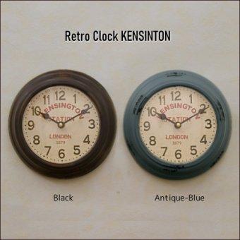 _レトロな壁掛け時計 KENSINTON-STATION CLOCK