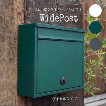 .ワイドポスト ダイヤルタイプ メールボックス(郵便受け)