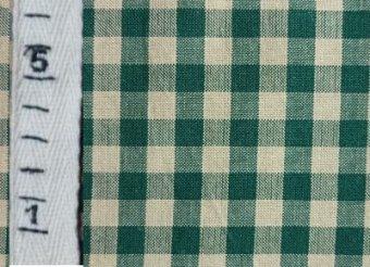 ホームスパン生地<グリーン×ベージュ>