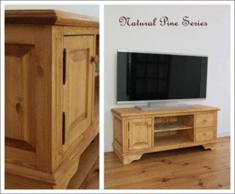 lナチュラルパインのテレビキャビネット(W1200)TVボード