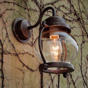'送料無料-真鍮製マリンウォールランプ(防雨ブラケット)BR1700古色ポーチライト
