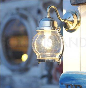 .送料無料 真鍮製マリンウォールランプ(防雨ブラケット)BR1700ゴールド色ポーチライト