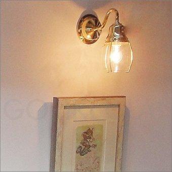 >真鍮製マリンウォールランプ(防滴ブラケット)BR1720ゴールド色ポーチライト