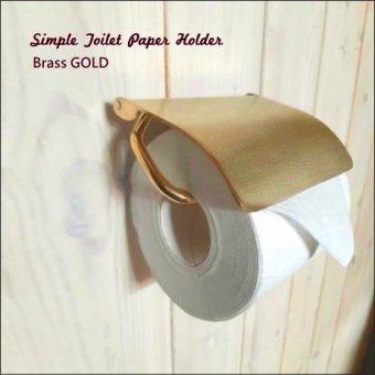_真鍮製トイレットペーパーホルダー(ブラスゴールド)