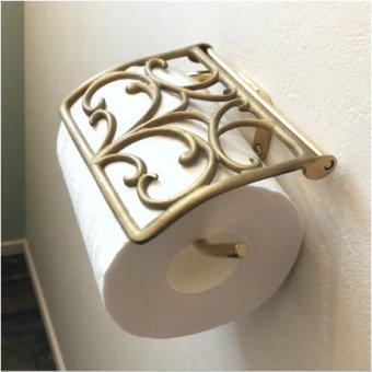 _真鍮製トイレットペーパーホルダー(ゴールドクローバー)