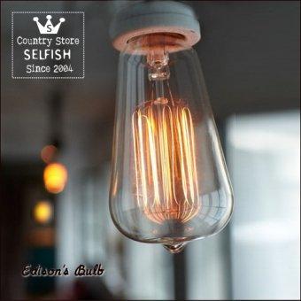 _エジソン電球カーボンタイプ白熱電球(消費電力60Wで20Wの明るさ)