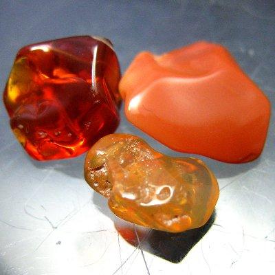 メキシコオパール原石3個(メキシコ産)