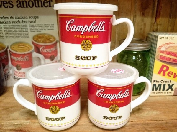 Campbell's キャンベル フタ付 プラスチック スープマグカップ