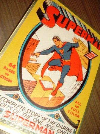 スーパーマンブリキ看板