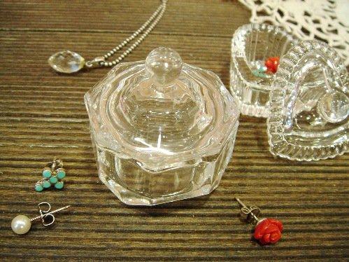 小さなガラスのプチケース Aオクタゴン