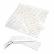 粘着性まつげパーマ用クリーム色ロット (粘着力2倍アップ、使い捨て)