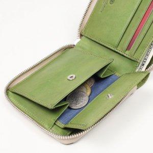 ラウンドファスナー 二つ折り財布 小銭入れ