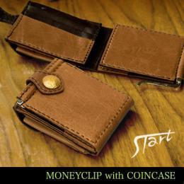 マネークリップ二つ折り財布