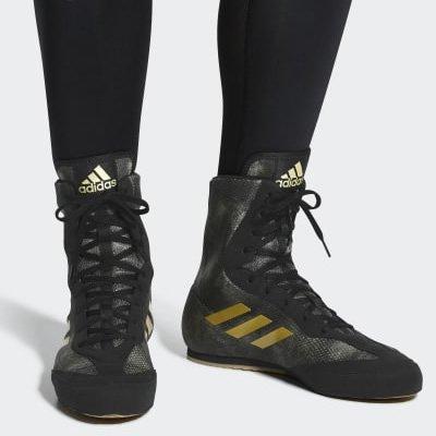 アディダス adidas Box Hog 2 プラス ボクシングシューズ  (ブラック・ゴールド)