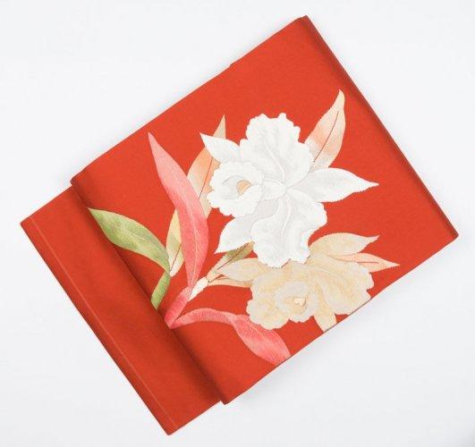 柿色地 カトレアの花のサムネイル画像