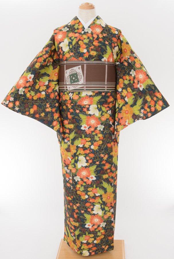 「単衣 お花畑 紬」の商品画像