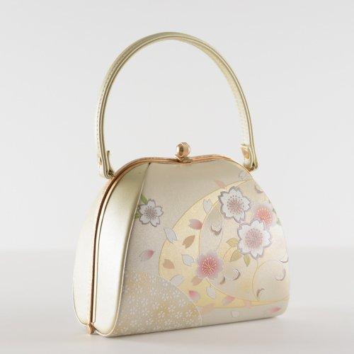 和装バッグ 桜 パールホワイトのサムネイル画像