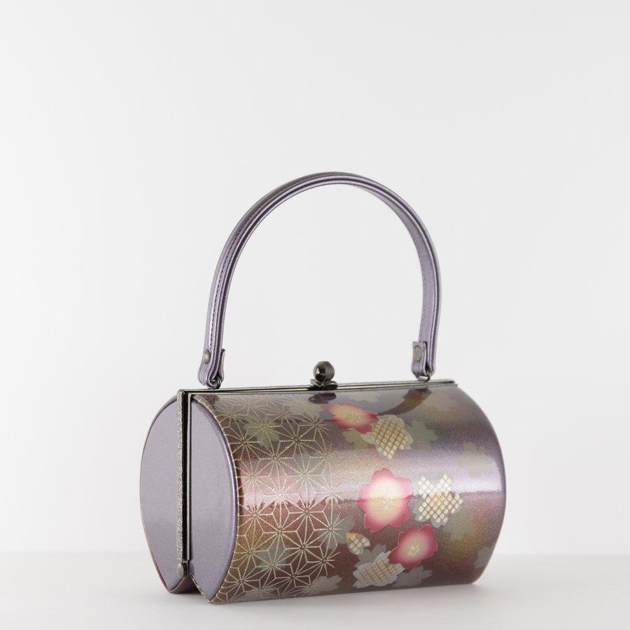 「和装バッグ 桜と麻の葉」の商品画像