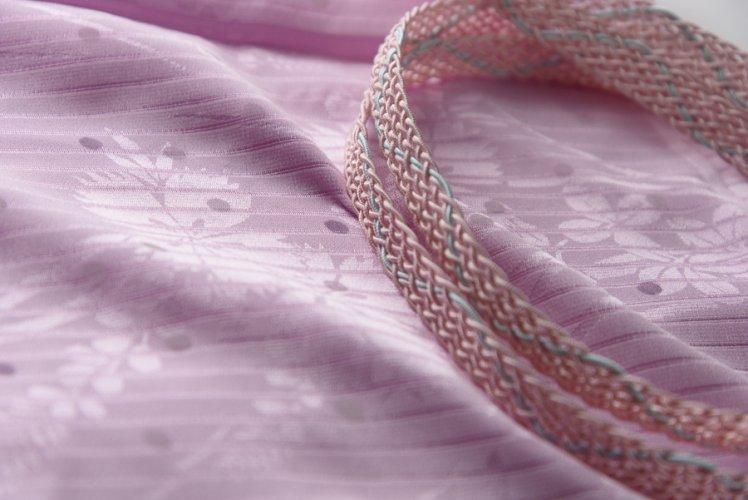 夏 帯揚げ帯締めセット 撫子ドットのサムネイル画像
