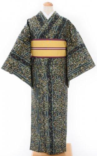 単衣 縞と葉のサムネイル画像