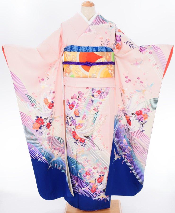 「振袖 きらきらの波に鶴」の商品画像