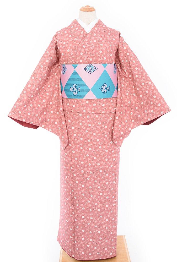 「2点セット*ピンク地に桜ドット トランプ柄の半幅帯」の商品画像