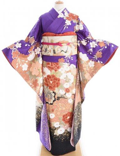 振袖 枝垂れ桜に花車のサムネイル画像