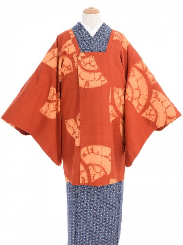 絞り染め 大きな青海波 道行コートのサムネイル画像