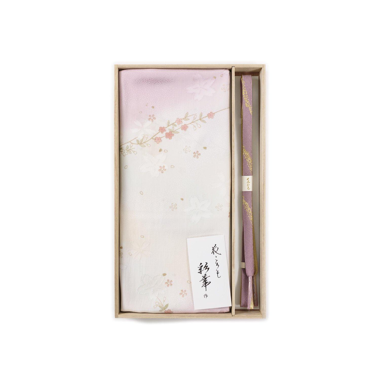 「帯揚げ帯締めセット 桜の枝と花」の商品画像