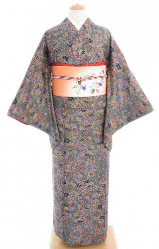 大島紬 可愛らしい小花