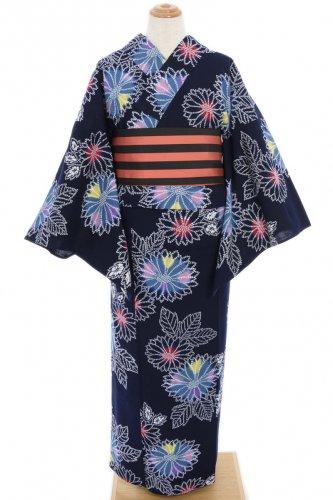 浴衣 コットンキャンディカラーの菊花のサムネイル画像