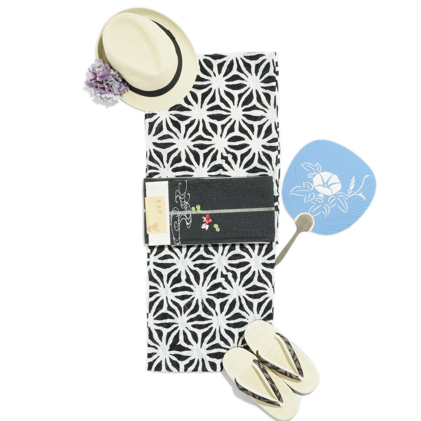 「新品浴衣 変わり麻の葉」の商品画像