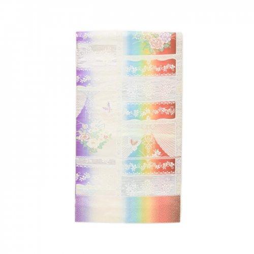 袋帯●レインボーカラーに花や蝶々のサムネイル画像