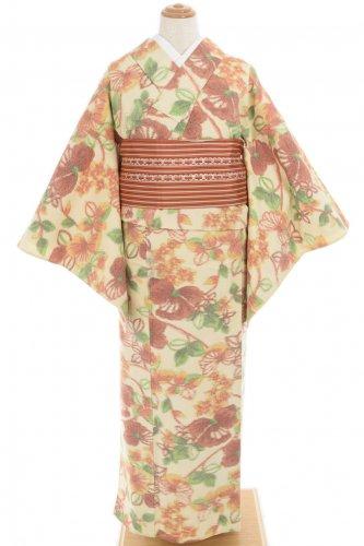 単衣 紬 リボンのような花のサムネイル画像