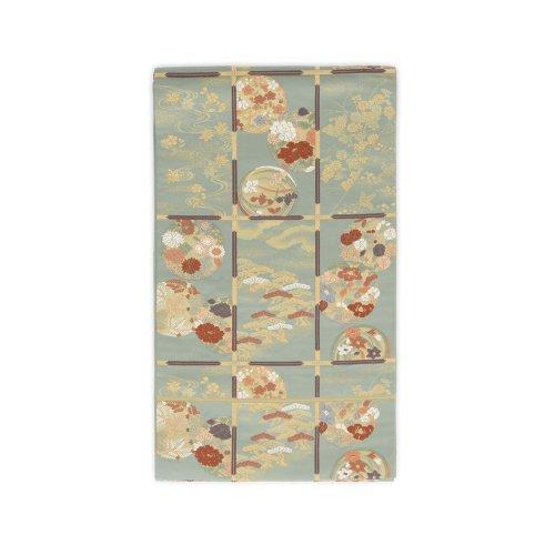 袋帯●格天井に花の丸のサムネイル画像