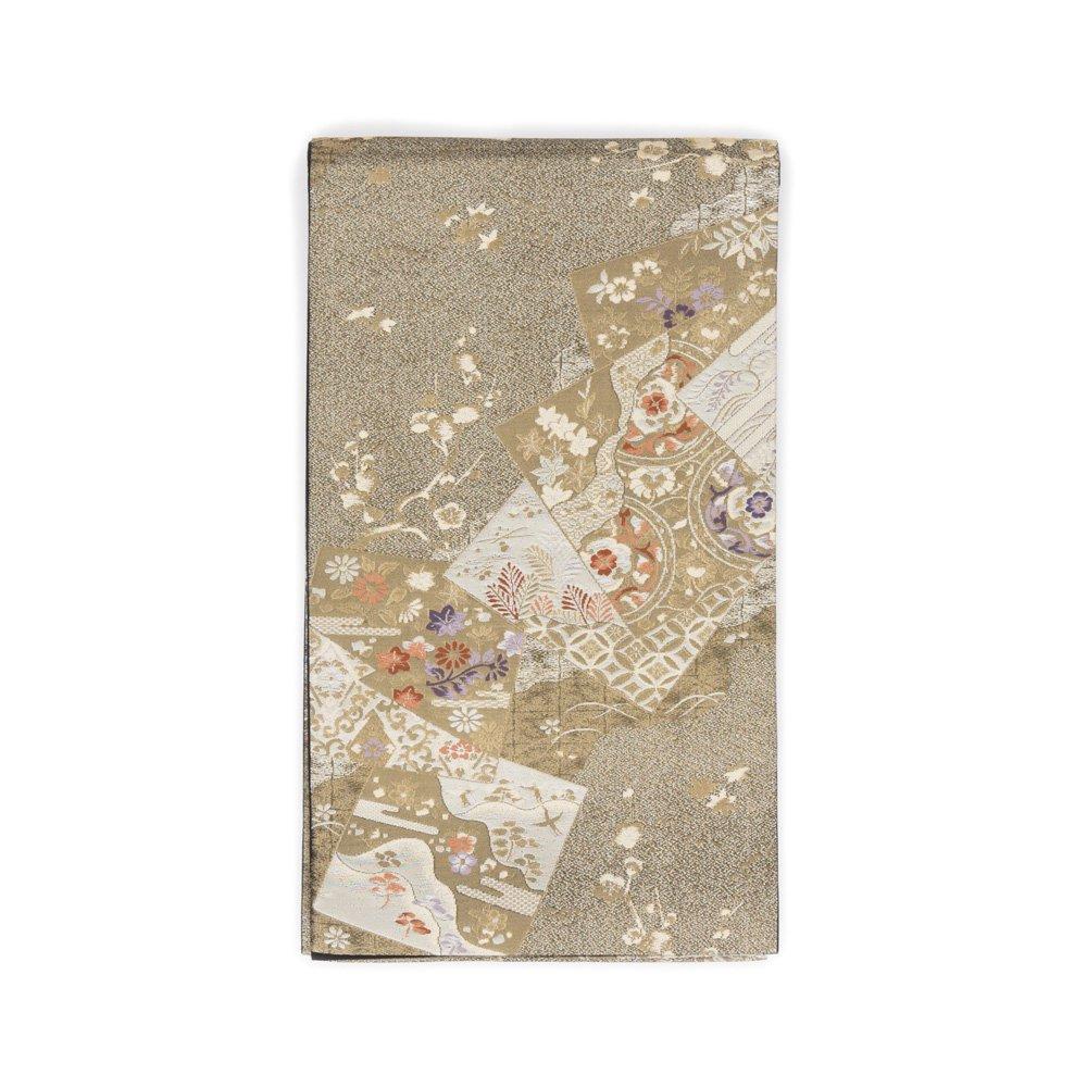 「袋帯●金黒地 景色札紋」の商品画像
