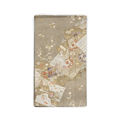 袋帯●金黒地 景色札紋のサムネイル画像