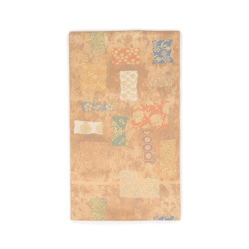 袋帯●四角に唐草牡丹のサムネイル画像