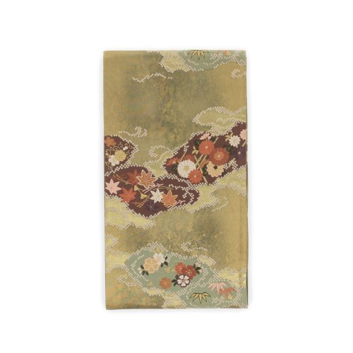 袋帯●吹寄せ 紅葉 菊 桜などのサムネイル画像