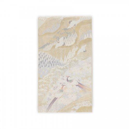 袋帯●山に鶴 花に雉のサムネイル画像