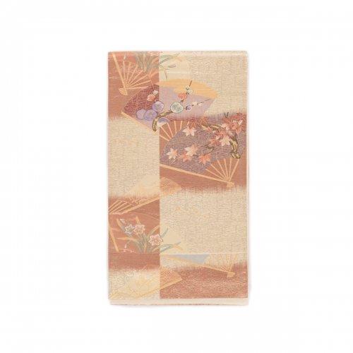 袋帯●市松に扇 梅や紅葉などのサムネイル画像
