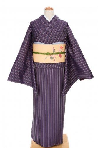 大島紬 紫の縞