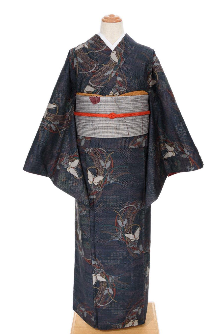 「大島紬 蝶々」の商品画像