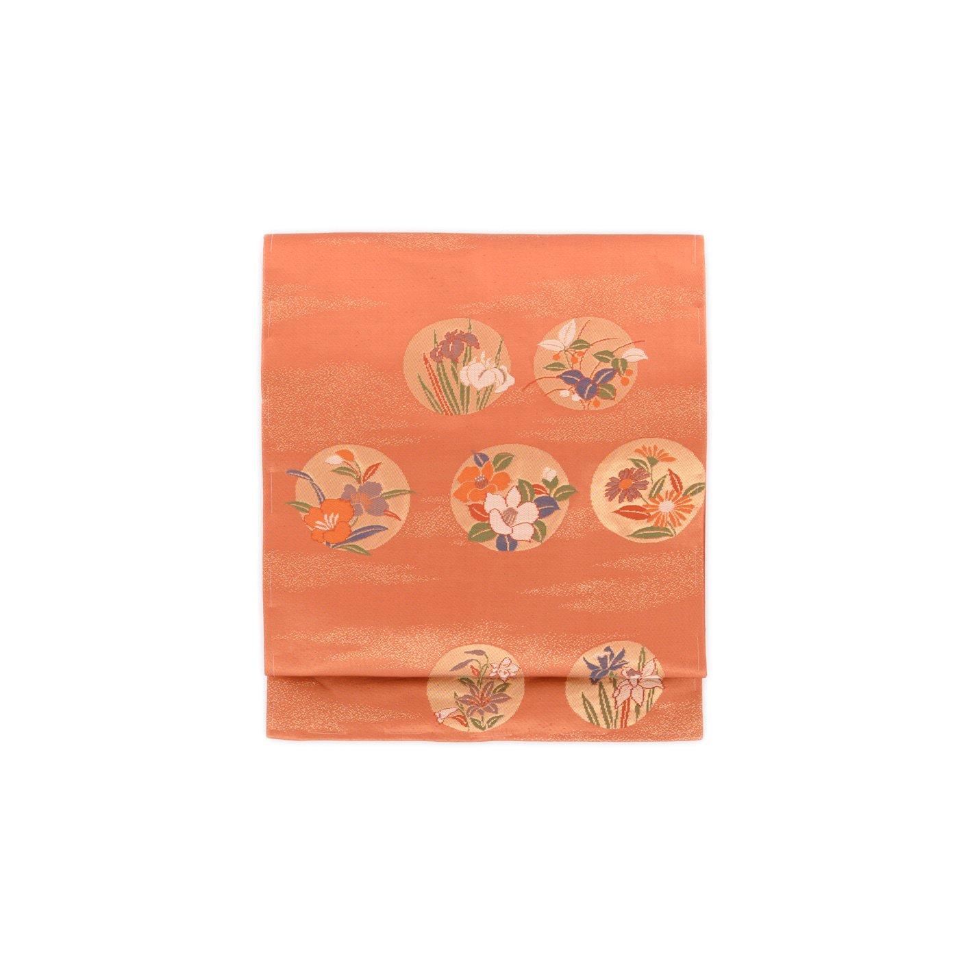 「金柿茶地 丸に花」の商品画像